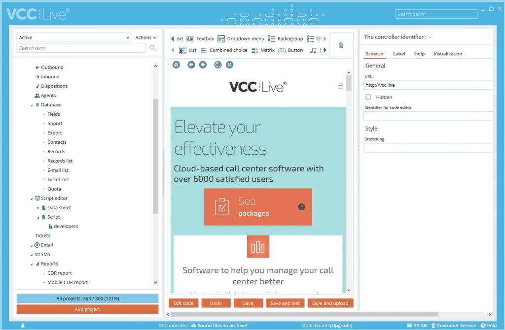 VCC Live Website Embedding