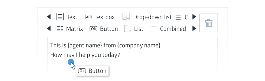 Adding button control illustration