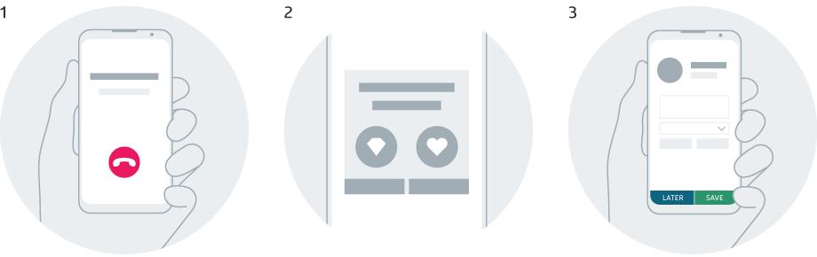 VCC Live App Handling Calls Illustration