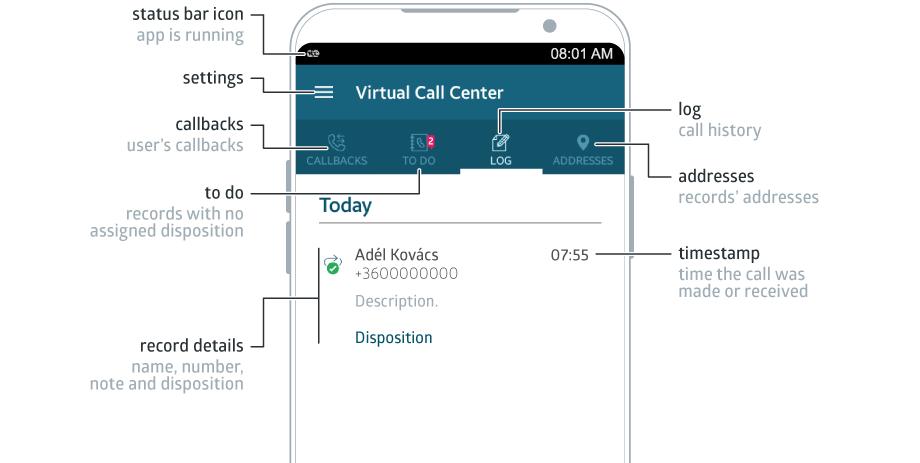VCC Live App Interface illustration