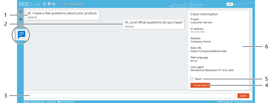VCC Live Chat - Website Integration screenshot