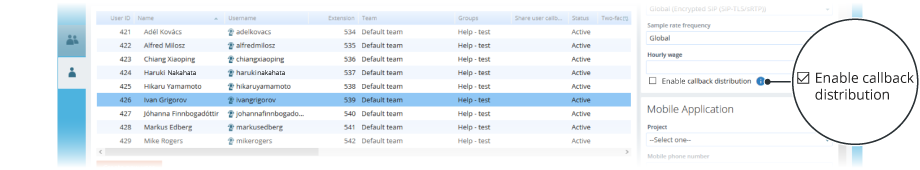 VCC Live Agent Callback Distribution screenshot