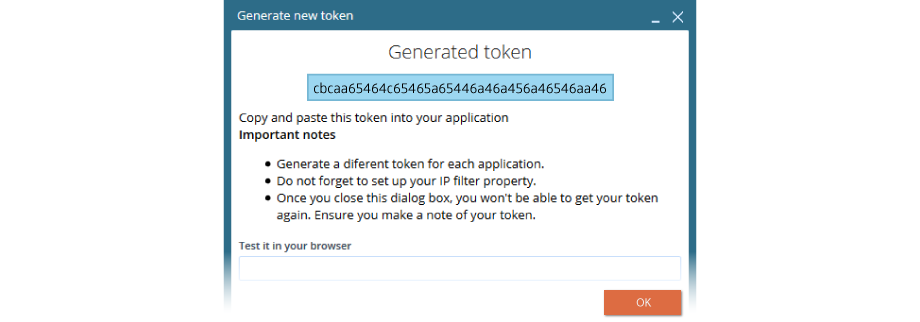 VCC Live token created screenshot