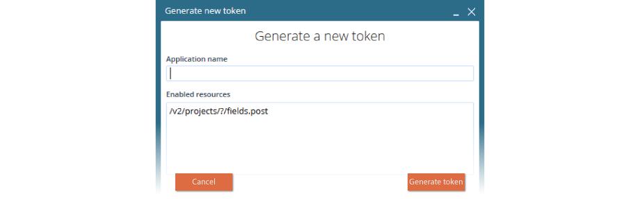 VCC Live creating token screenshot