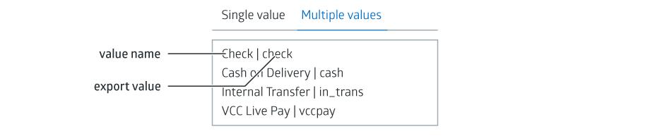 VCC Live Adding Field values screenshot