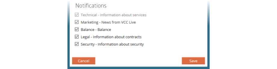 VCC Live Notifications Screenshot
