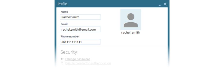 VCC Live Contact Details Screenshot