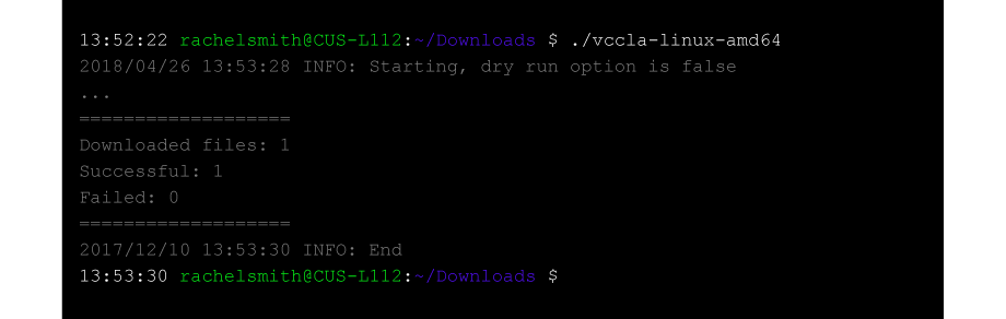 VCC Live Voice File Archiver Screenshot - Linux